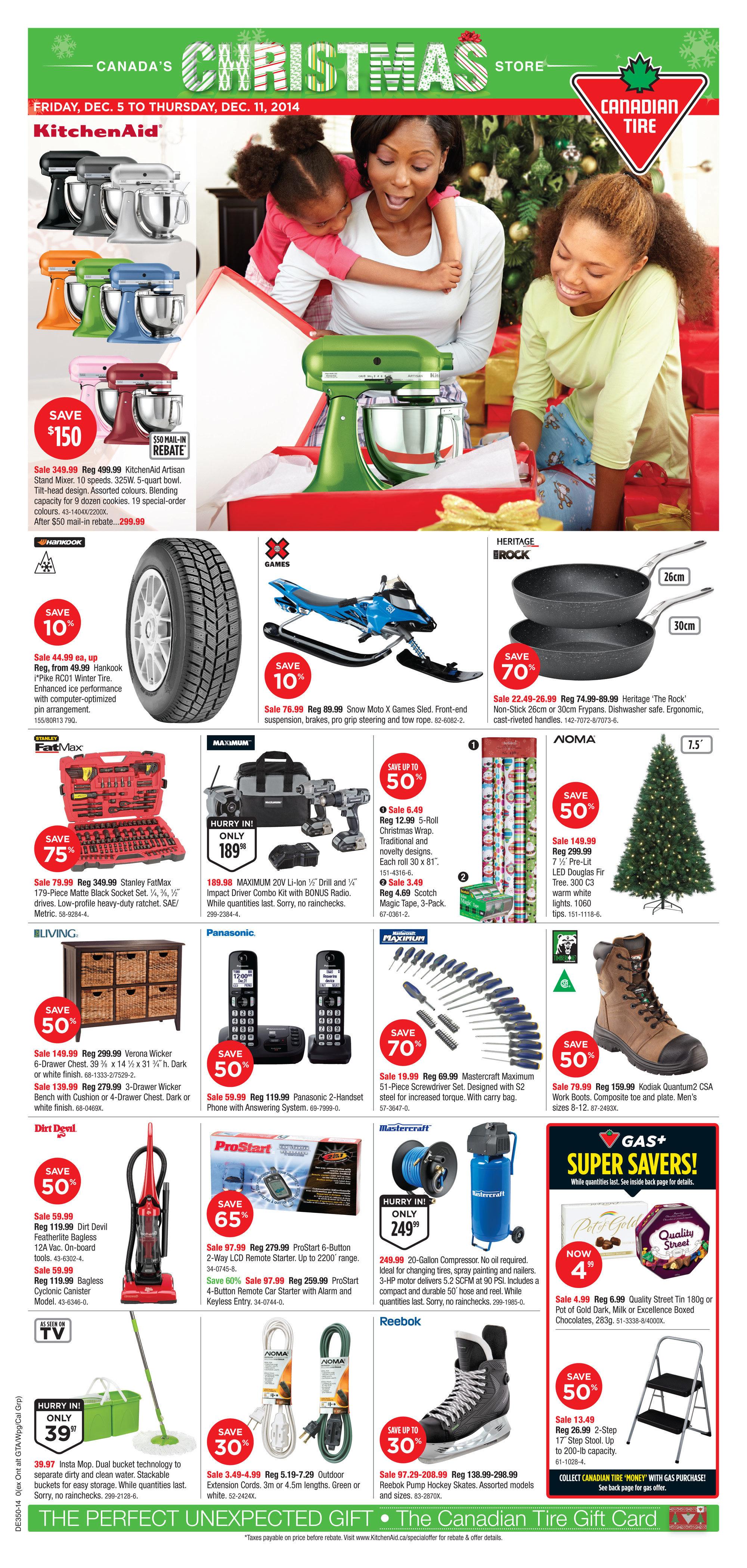 Canadian Tire Weekly Flyer Weekly Flyer Dec 4 11