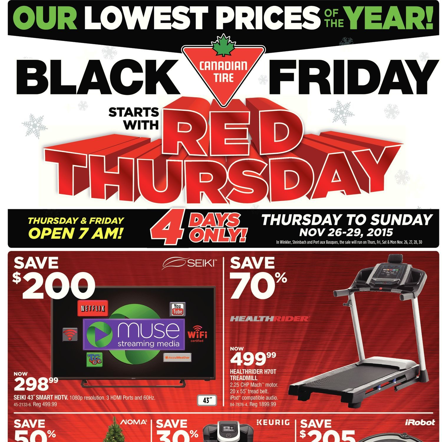 Canadian Tire Weekly Flyer Black Friday Starts With Red Thursday Nov 26 29 Redflagdeals Com