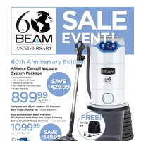 Beam Central Vacuum - Sale Event! Flyer