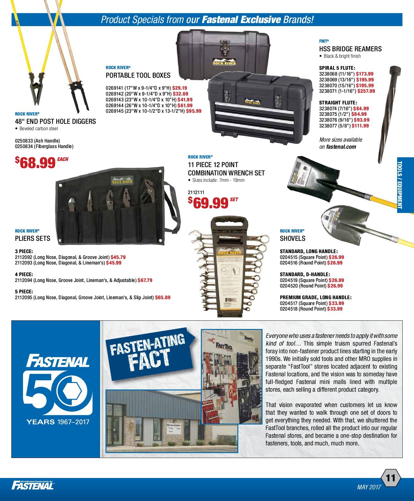 Fastenal Weekly Flyer - May Product Specials! - May 1 – 31
