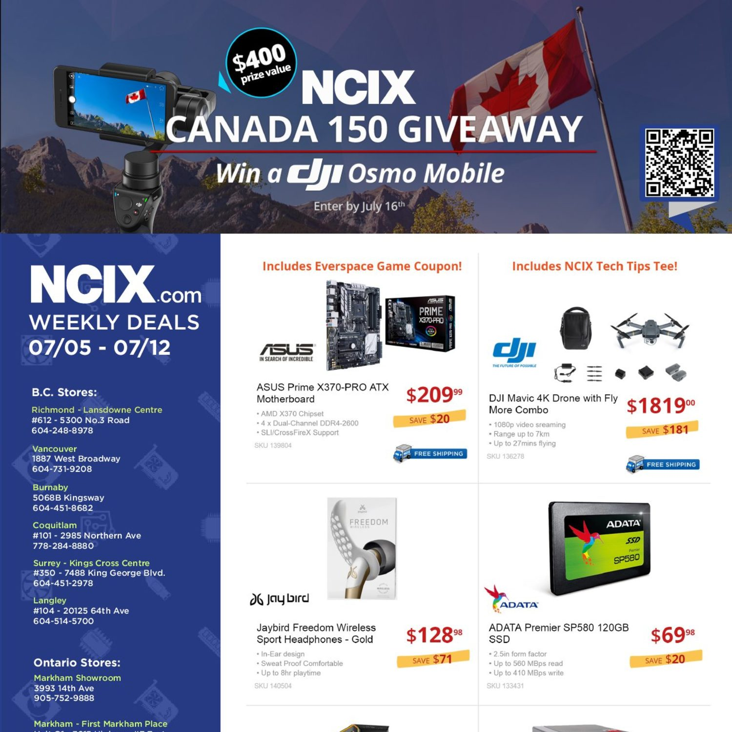 Ncix Weekly Flyer Deals Jul 5 12 Powerbank Adata Pv150 Leather Texture 10000mah