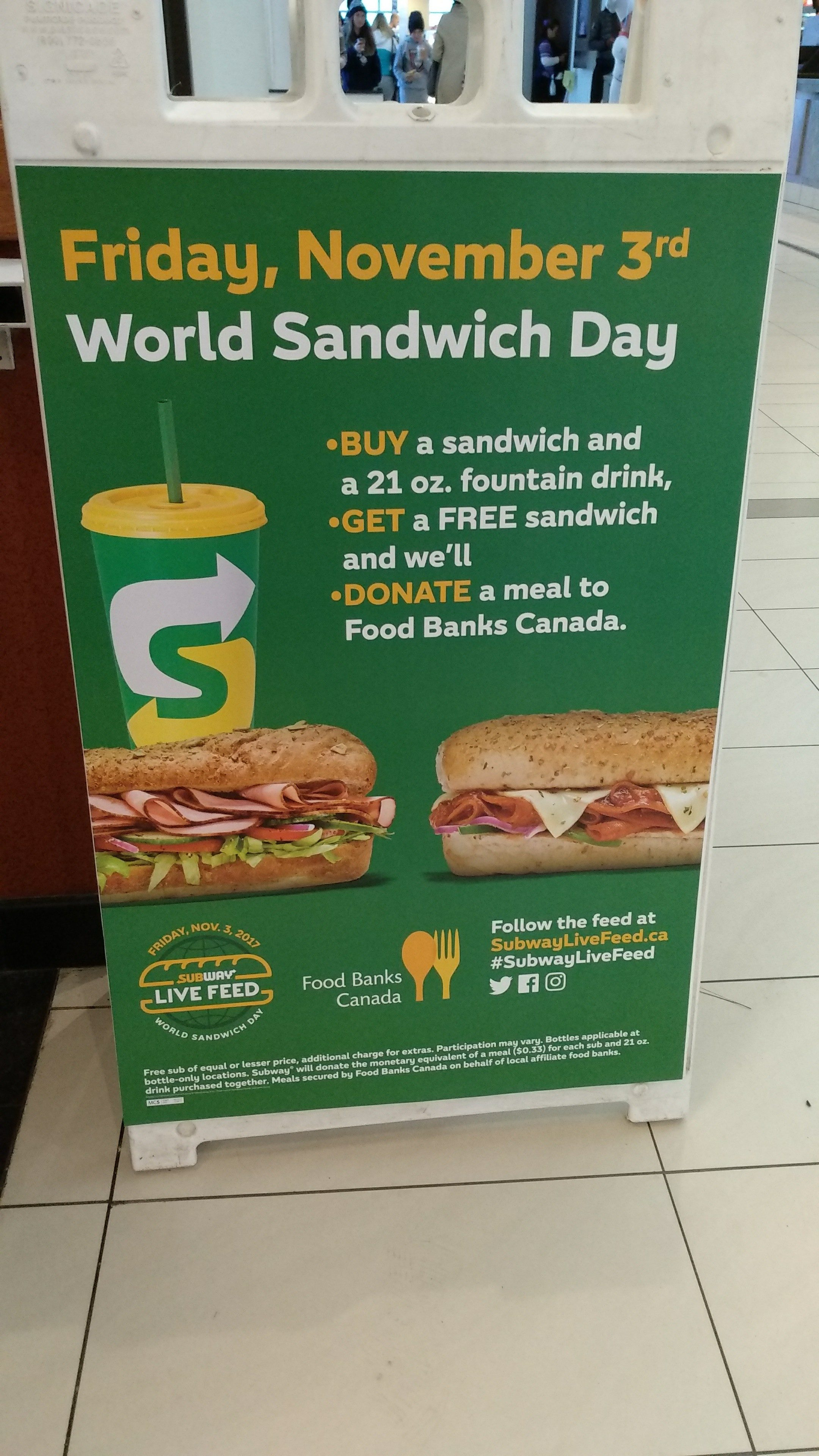 Subway 350 sub of the day