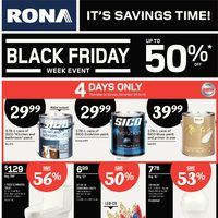 Rona - Weekly - Black Friday Week Event Flyer