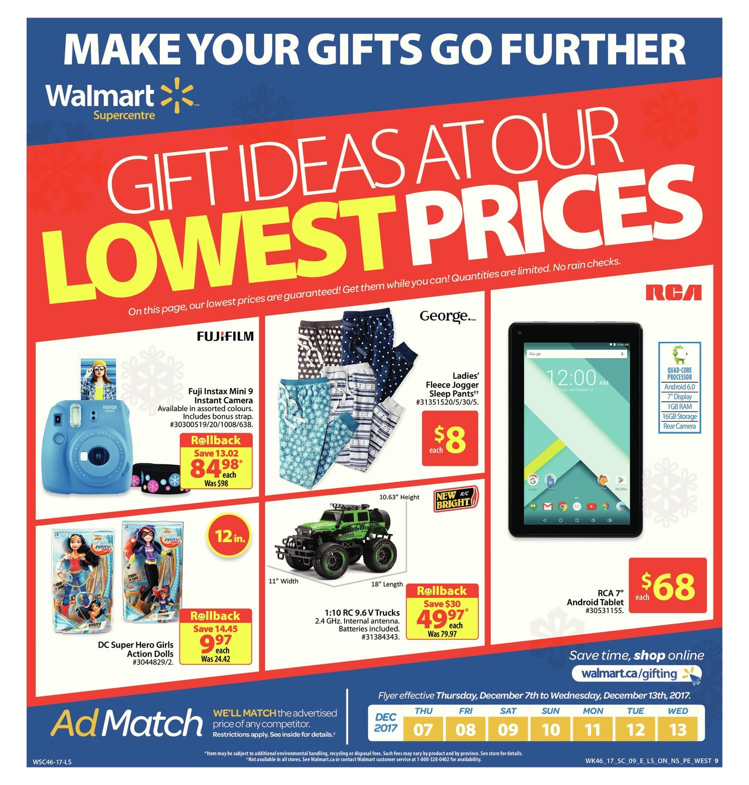 Walmart Weekly Flyer - Supercentre - The Lowest Price is Everything - Dec 7  – 13 - RedFlagDeals.com fb08b9d436f4