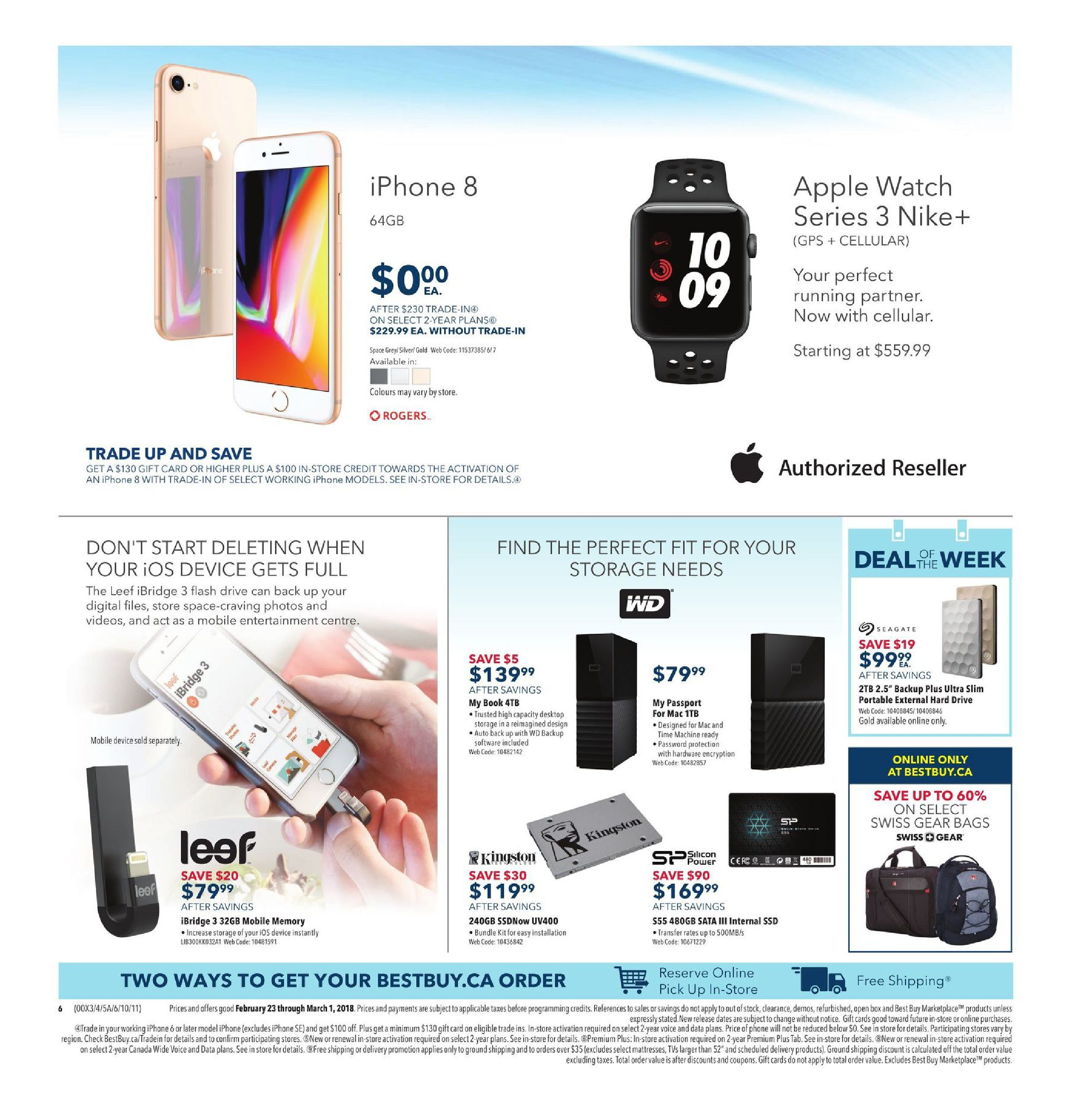 Best Buy Weekly Flyer Winter Sale Feb 23 Mar 1 Supreme Cellular Multipurpose Backpack