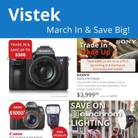 Vistek - March In & Save Big! Flyer