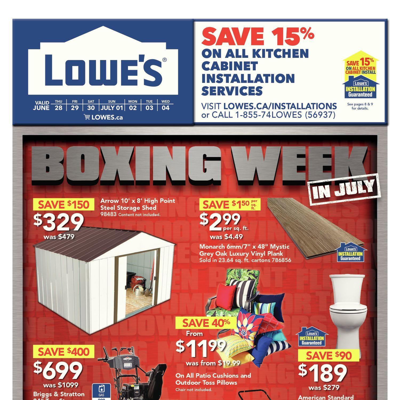 Lowes Weekly Flyer Boxing Week In July Jun 28 Jul 4 Advance Massager Ezee