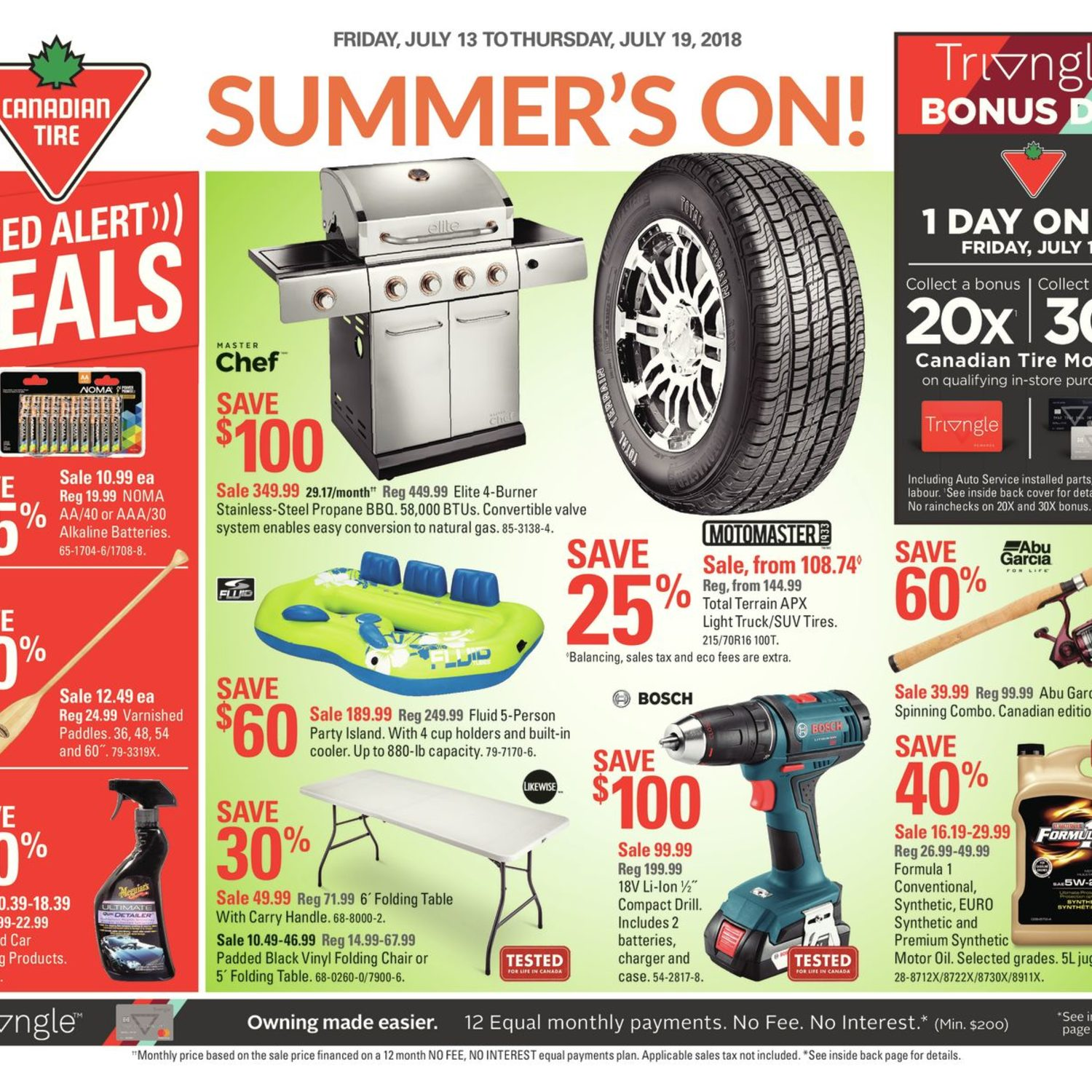 canadian tire weekly flyer weekly summer s on jul 13 19