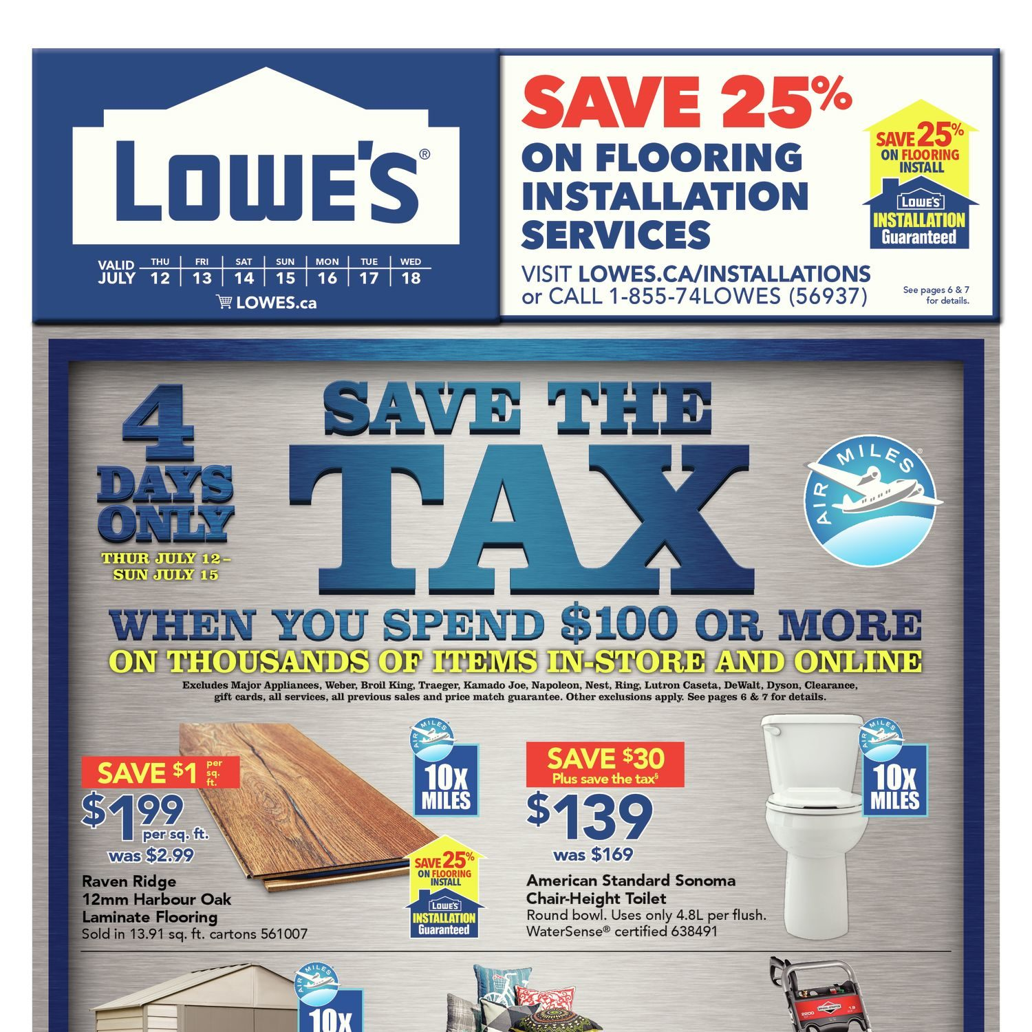 Lowe\'s Weekly Flyer - Weekly - Save The Tax - Jul 12 – 18 ...