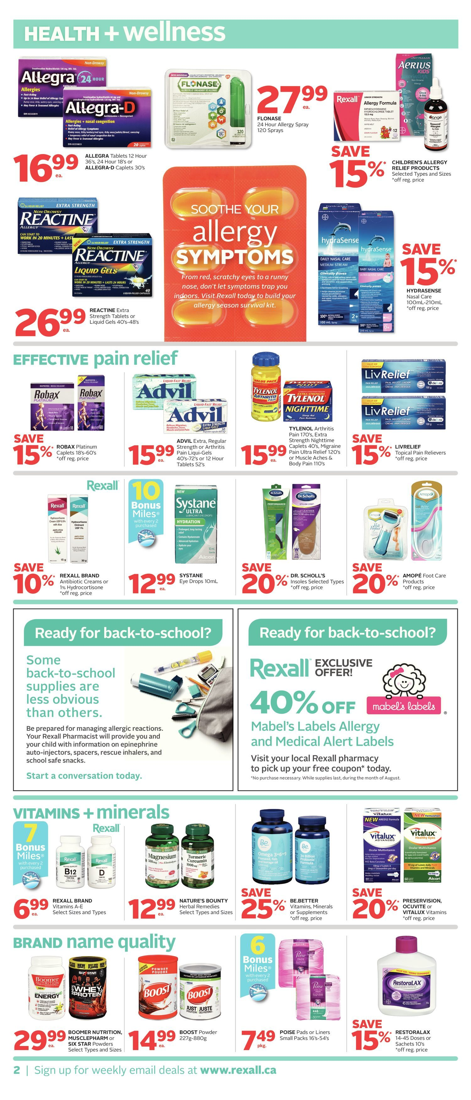 Rexall Weekly Flyer Week Long Savings Aug 3 9 Bite Fighters Advance Mosquito Repellent Lotion With Rolling Ball 100ml