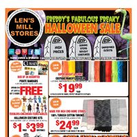Len's Mill Stores - Freddy's Fabulous Freaky Halloween Sale Flyer