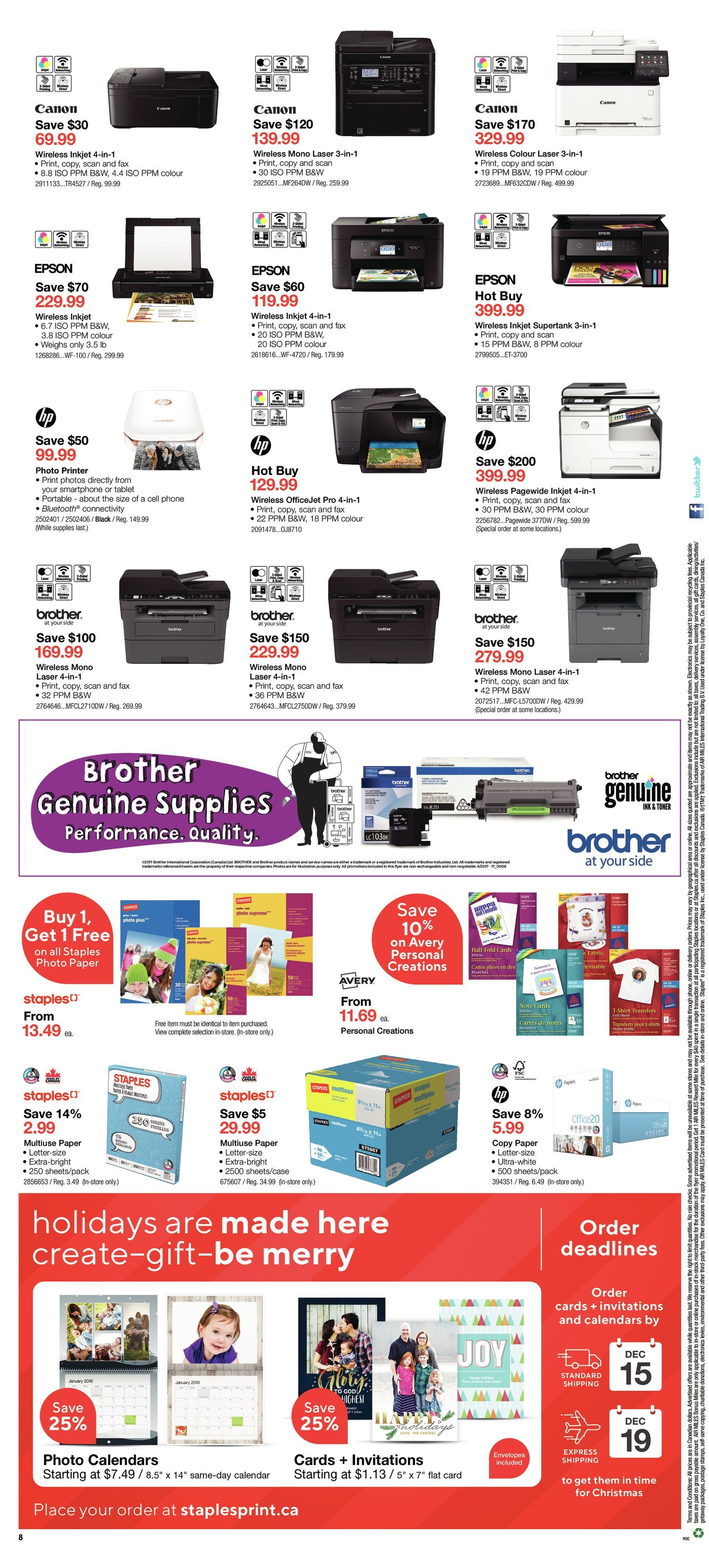 868d2868bdf Staples Weekly Flyer - Weekly - See The Holidays Differently - Dec 12 – 18  - RedFlagDeals.com