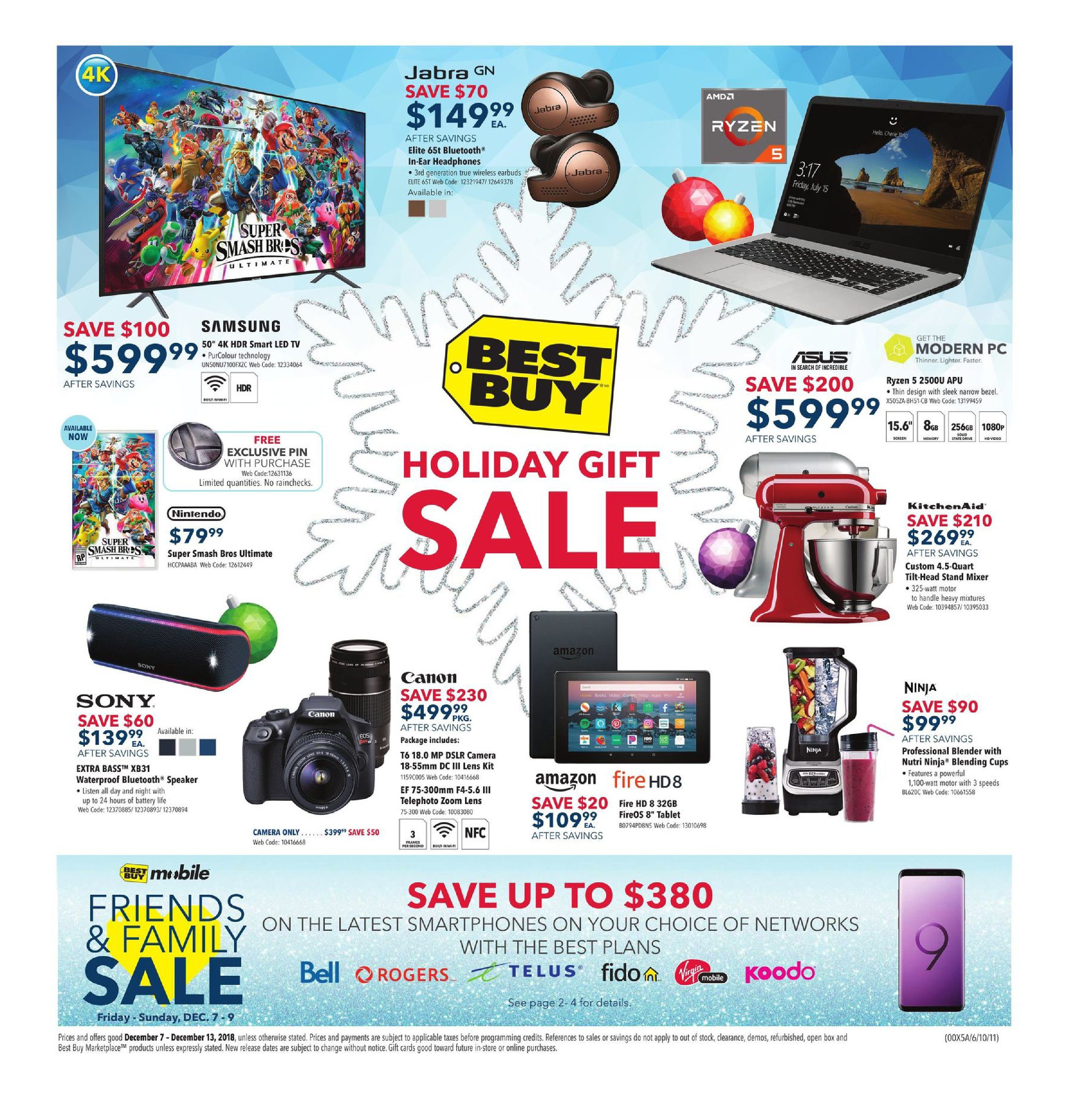 Best Buy Weekly Flyer - Weekly - Holiday Gift Sale - Dec 7
