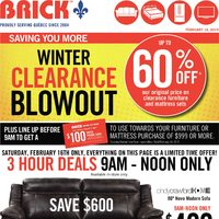 The Brick - Winter Clearance Blowout Flyer