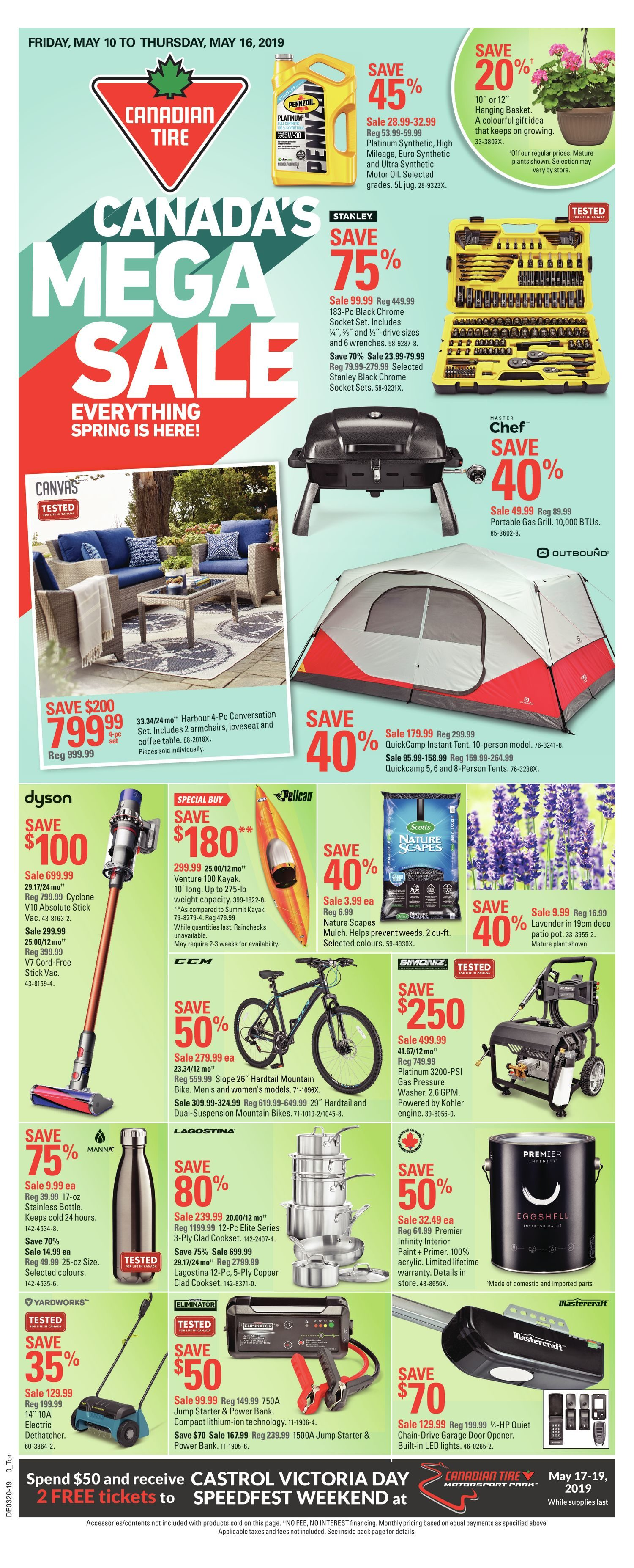 c994219db92 Canadian Tire Weekly Flyer - Weekly - Canada's Mega Sale - May 10 ...