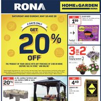 Rona - Home & Garden - Appliance & Garden Flyer