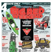 - 4 Days Only - Father's Day Big Red Weekend Flyer