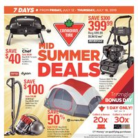 Canadian Tire - Weekly - Mid Summer Deals Flyer
