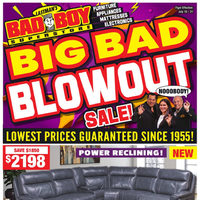 Bad Boy Furniture - Big Bad Blowout Sale! Flyer