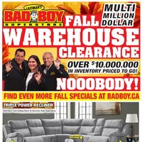 Bad Boy Furniture - Fall Warehouse Clearance Flyer