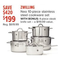 Zwilling Neo 10-Piece Stainless Steel Cookware Set