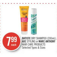 Batiste Dry Shampoo Axe Styling Or Marc Anthony Hair Care Products