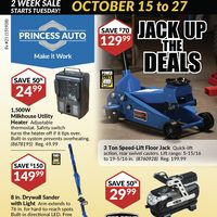 Princess Auto - 2 Week Sale - Jack Up The Deals Flyer