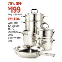 Zwilling 18/10 Quadro Stainless Steel Cookware Set