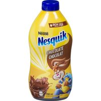 Nesquik Syrup or Carnation Hot Chocolate Powder