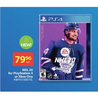 NHL 20 For Playstation 4 Or Xbox One