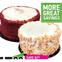 "Baker Street Fresh 6"" Cake Red Velvet Cheesecake or Carrot Cake"