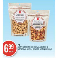 PC Jalapeno Pistachios, Almonds & Macadamia Nuts Or Roasted Almonds
