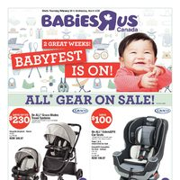 Babies R Us - 2 Great Weeks! - Babyfest Is On! Flyer