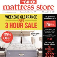 The Brick - Mattress Store - Massive Mattress Blowout Flyer