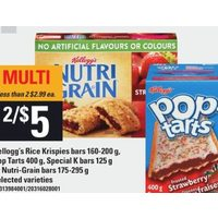 Kellogg's Rice Krispies Bars Pop Tarts Special K Bars or Nutri-Grain Bars