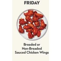 Breaded Or Non-Breaded Sauced Chicken Wings