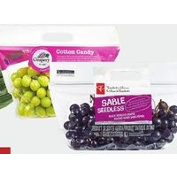 PC Sable Seedless Black Seedless Grapes or Cotton Candy Grapes