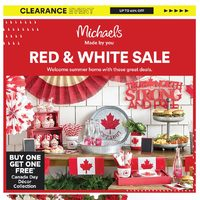 - Red & White Sale Flyer