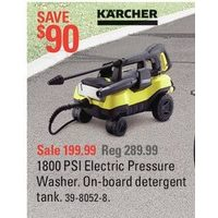 K'Archer 1800 PSI Electric Pressure Washer