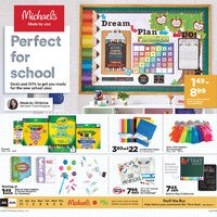 Michaels - Weekly - Perfect For School Flyer