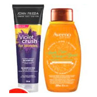 Aveeno Blends or John Frieda Hair Care Products