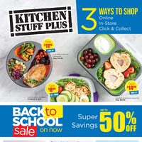 Kitchen Stuff Plus - Back To School Sale Flyer