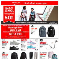 Sport Chek - 2 Weeks of Savings - Back To School Sale Flyer