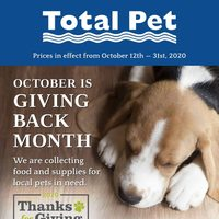 Pet Valu - Total Pet - October is Giving Back Month Flyer