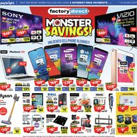 Factory Direct - Monster Savings! Flyer