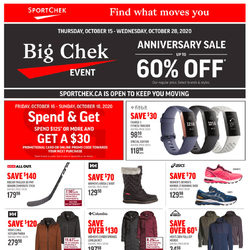 Sport Chek - Big Chek Event - Anniversary Sale Flyer