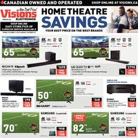 Visions Electronics - Home Theatre Savings Flyer