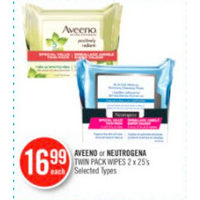 Aveeno Or Neutrogena Twin Pack Wipes
