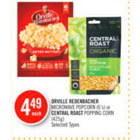 Orville Redenbacher Microwave Popcorn Or Central Roast Popping Corn