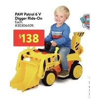 Paw Patrol 6V Digger Ride-On